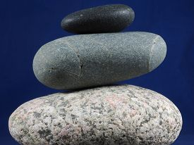 Three Balanced Pebbles