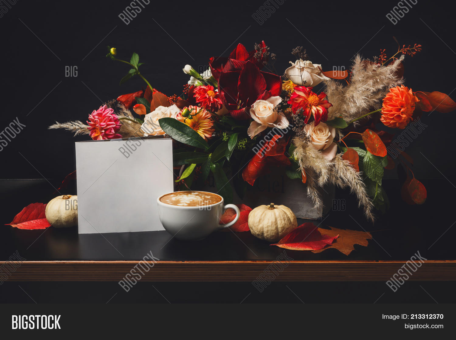 Cappuccino beautiful image photo free trial bigstock cappuccino and beautiful flowers still life flower shop composition coffee cup apple izmirmasajfo