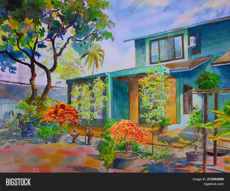 Watercolor Landscape Image & Photo (Free Trial)   Bigstock