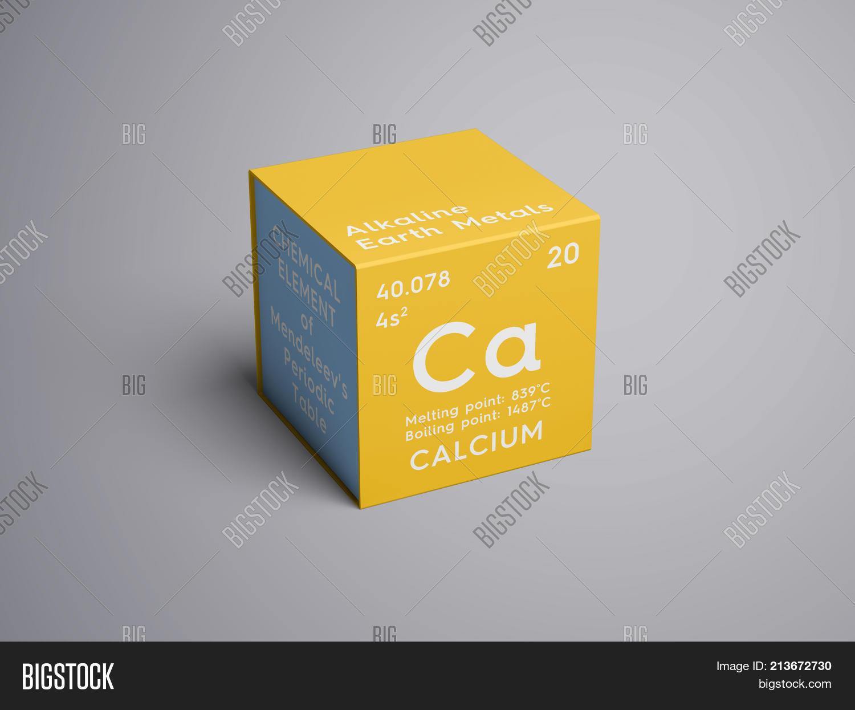 Calcium alkaline earth metals image photo bigstock alkaline earth metals chemical element of mendeleevs periodic table 3d illustration urtaz Gallery