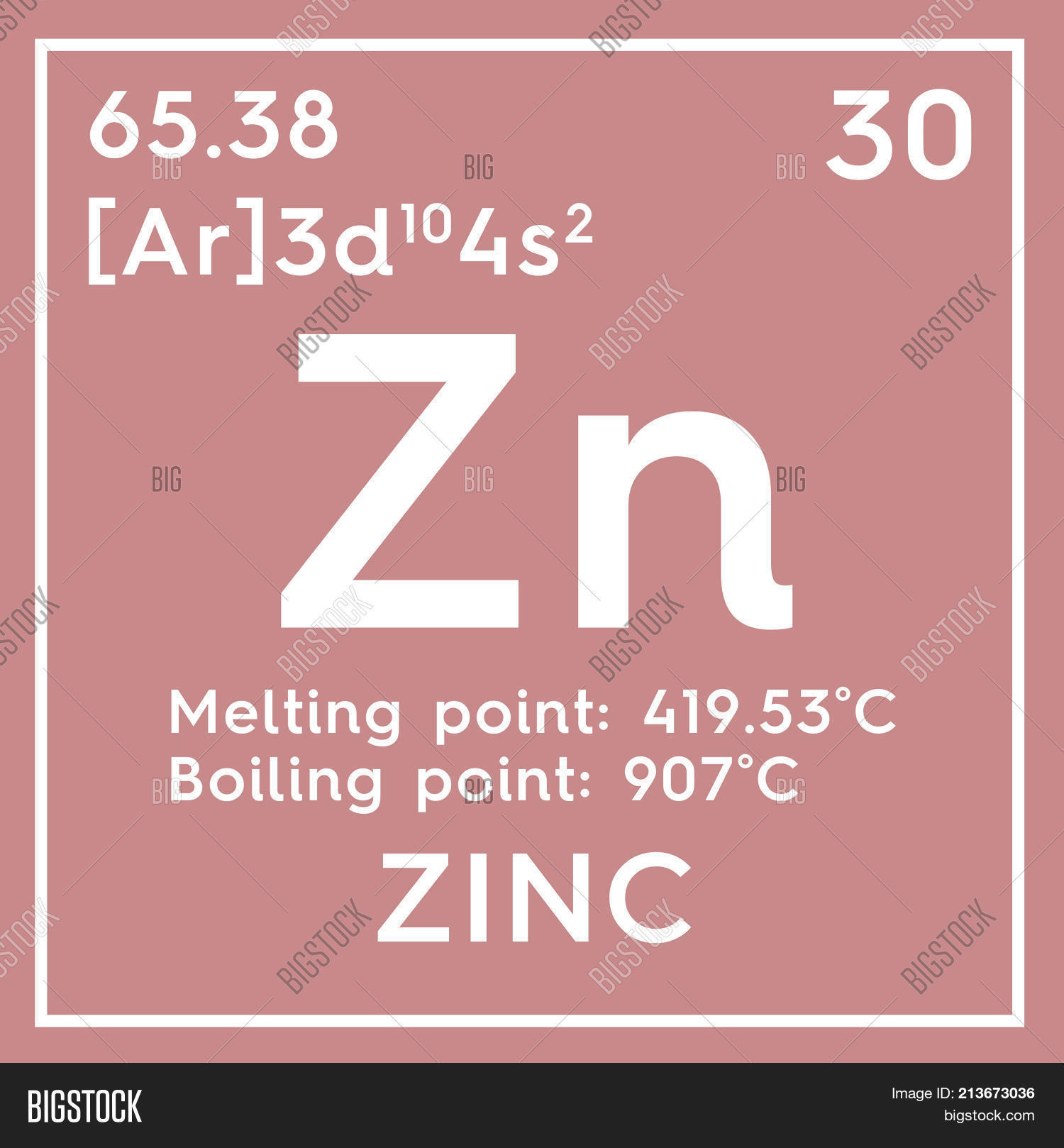 Zinc periodic table information elcho table zinc transition metals chemical element of mendeleev s periodic table ilration urtaz Images