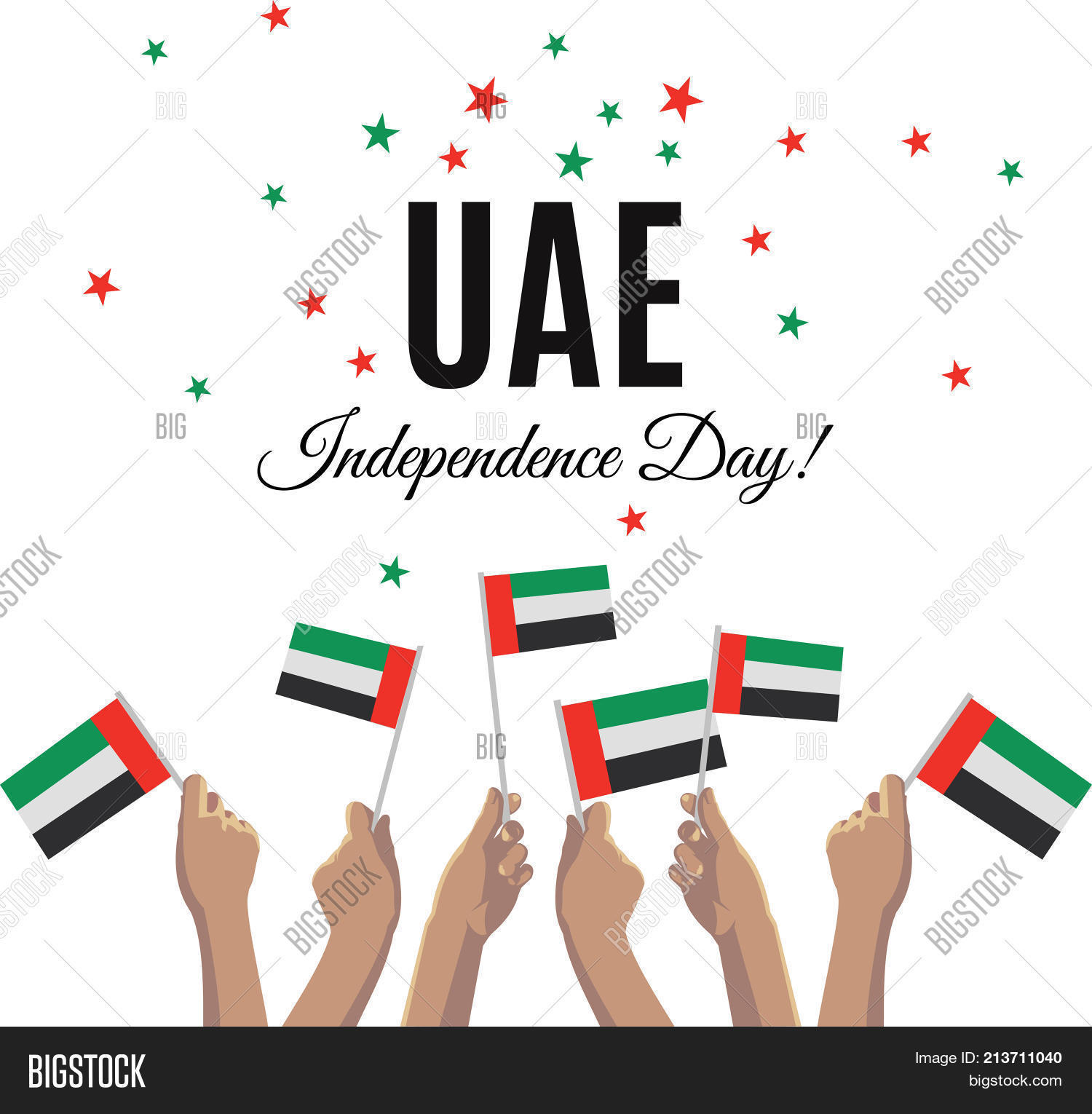United arab emirates vector photo free trial bigstock united arab emirates independence day placard banner or greeting card vector illustration with uae m4hsunfo