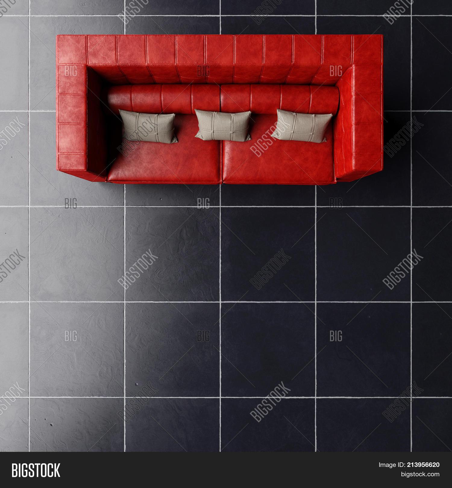 Terrific Top View Red Sofa On Image Photo Free Trial Bigstock Machost Co Dining Chair Design Ideas Machostcouk