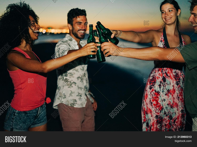 Happy Friends Drinking Image & Photo (Free Trial) | Bigstock