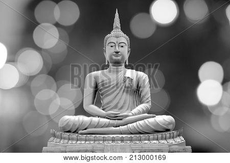 Buddha statue,ancient Buddha statue or Buddha image use for Buddhist day background