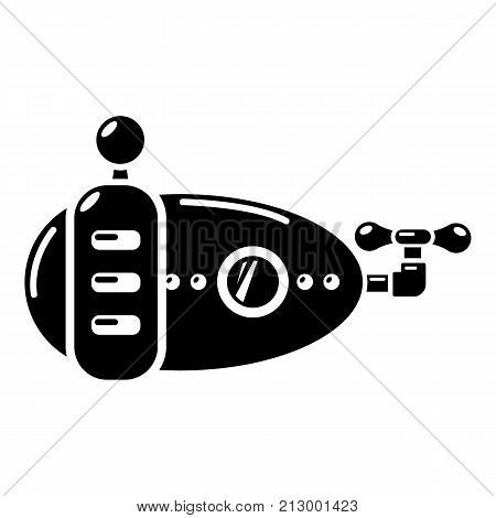 Submarine navy icon. Simple illustration of submarine navy vector icon for web