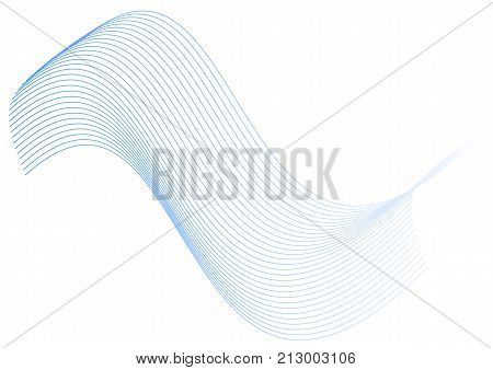 Abstract blue strips on white background. Stock vector graphic for your design