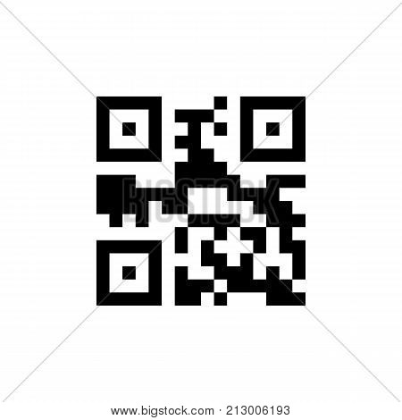 Template of QR code for smartphone scanning. Vector illustration isolated on white background.