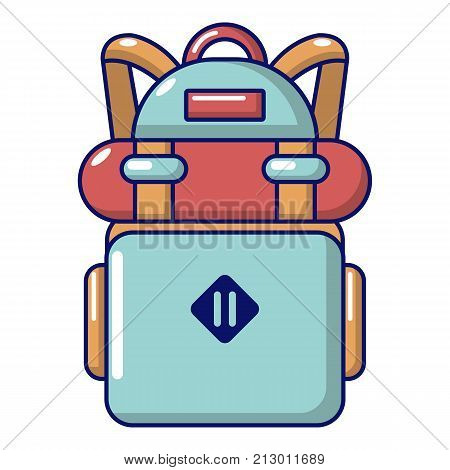 Backpack hiking icon. Cartoon illustration of backpack hiking vector icon for web