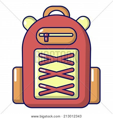 Backpack student icon. Cartoon illustration of backpack student vector icon for web