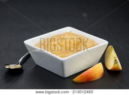 Slate Slab With Homemade Applesauce