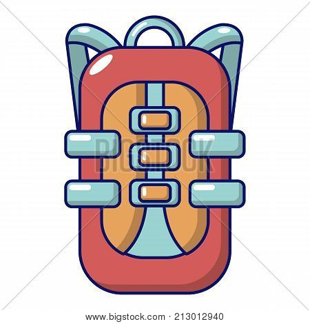 Backpack travel icon. Cartoon illustration of backpack travel vector icon for web