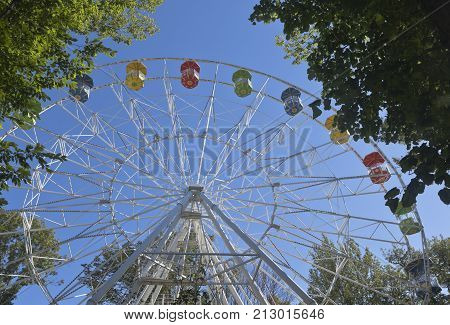 Ferris wheel on the mountain Big Ahun in Hosta district of Sochi, Krasnodar region, Russia