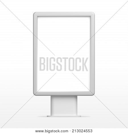Empty white 3D illustration light box, citylight or display mockup for design presentation.