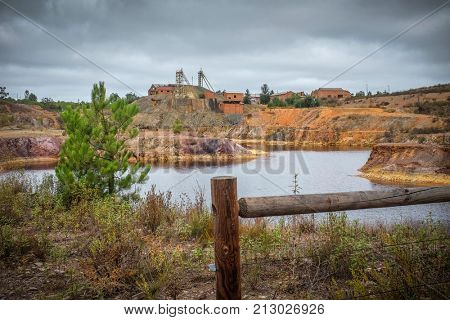 Ruins of an old and deactivated mining site in Portugal