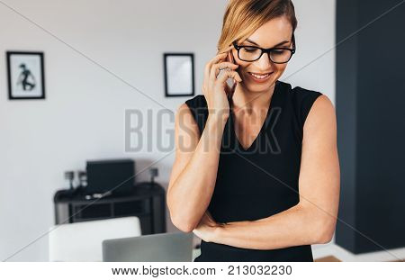 Woman Talking Over Phone