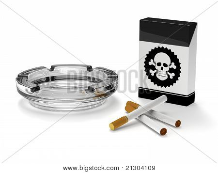 Stop smoking campaign,Cigarettes,Ashtray,Cigar box