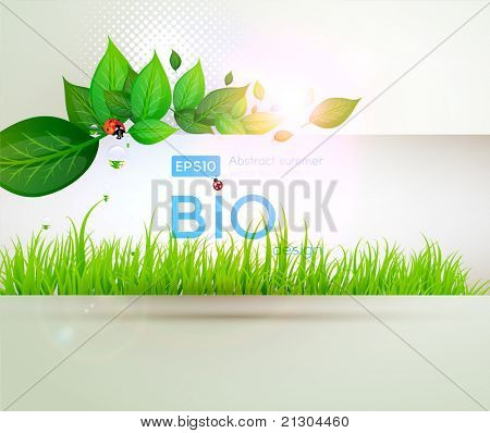 bio concept design eco friendly for summer floral banner