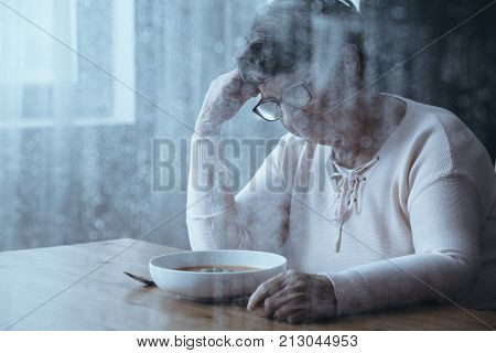 Elderly Woman With Eating Disorders