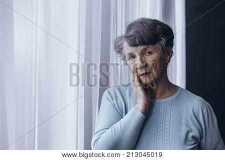 Elderly Person Suffering From Alzheimer