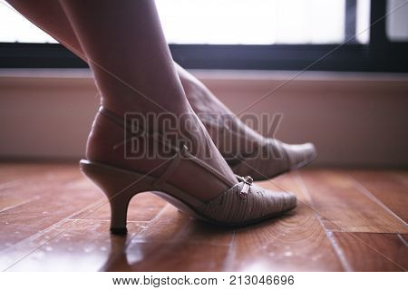 Elegant Lady Legs And Feet