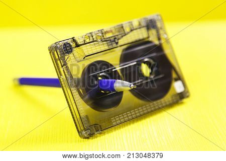 Audio Cassette And A Pencil