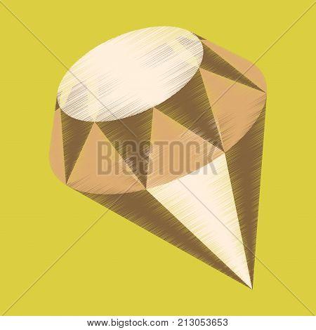 flat shading style icon diamond expensive jewelery