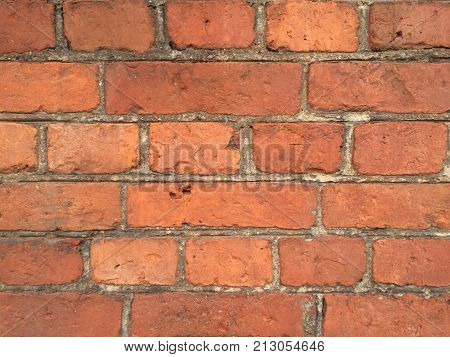 Photo of abstract texture of old brickword
