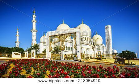 Sheikh Zayed Grand Mosque In Abu Dhabi 12