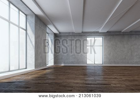 Spacious Room With Empty Wall