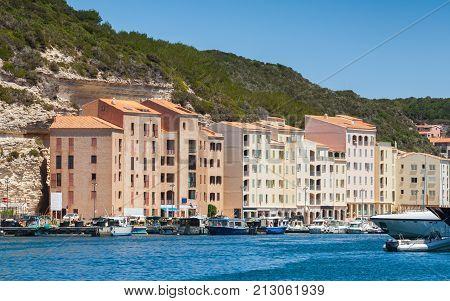 Bonifacio, Small Resort Port City Of Corsica Island