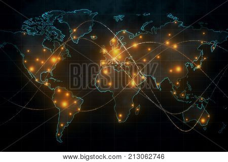 Global Network And Communication Concept