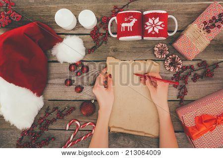 Writing On Papyrus Christmas List