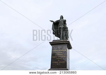 Statue Of The Swedish King Gustav Iii