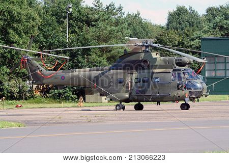 British Royal Air Force Puma Cargo Helicopter