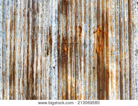 Close up of Rusted galvanized iron plate