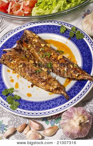 Wahoo Grilled Fish Meal