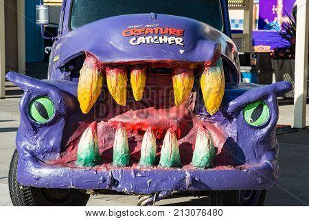 ALLENTOWN, PA - OCTOBER 22: View of Halloween Decorations at Dorney Park in Allentown, Pennsylvania