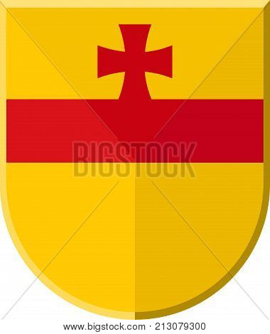 Coat of arms of Meppen is a town in and the seat of the Emsland district of Lower Saxony Germany. Vector illustration