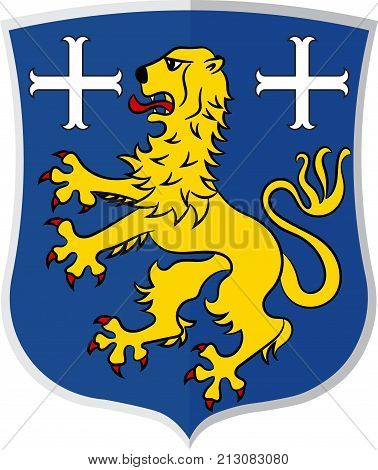Coat of arms of Friesland is a district in Lower Saxony Germany. Vector illustration