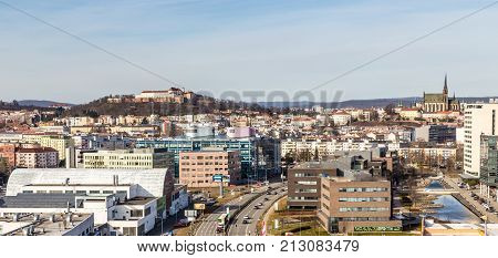 Skyline Of Brno With Spilberk Castle And Cathedral of St Peter and Paul - Brno Moravia Czech Republic Europe