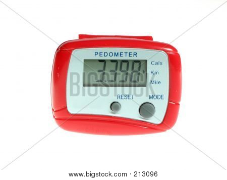 Red Pedometer