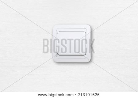 White light switch on white wall background