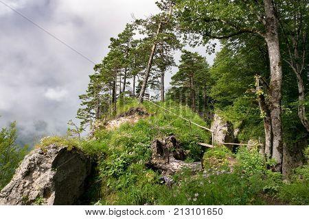 Mountain landscape in Republic of Adygea North Caucasus Russia