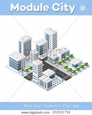Isometric 3D City Vector & Photo (Free Trial) | Bigstock