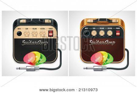 Vector guitar amplifier icon