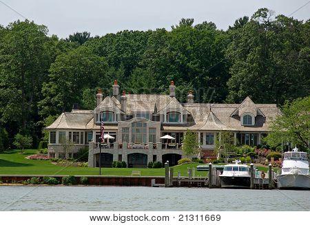 estate on the lake