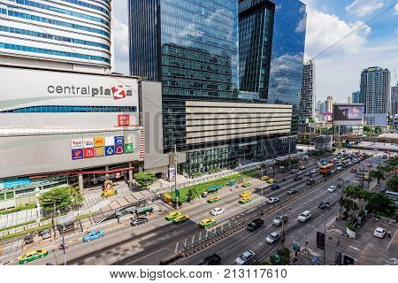BANGKOK THAILAND - AUGUST 12: This is a view of Central Plaza Grand Rama 9 a famous shopping center located in the downtown area on August 12 2017 in Bangkok