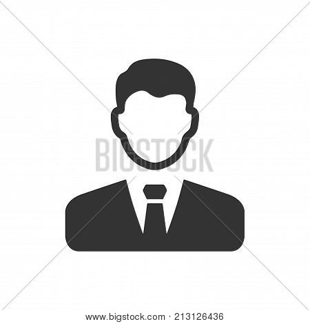 Smart, Beautiful, Meticulously Designed Vector Businessman Icon