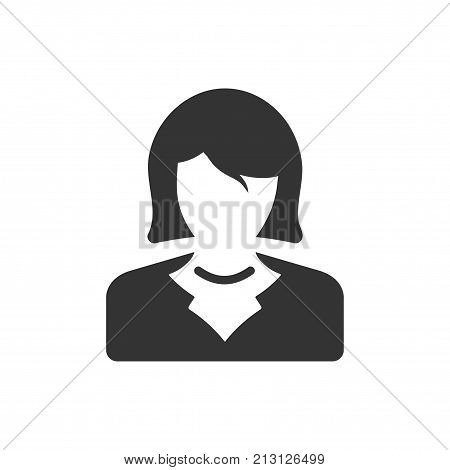 Smart, Beautiful, Meticulously Designed Business Woman Icon